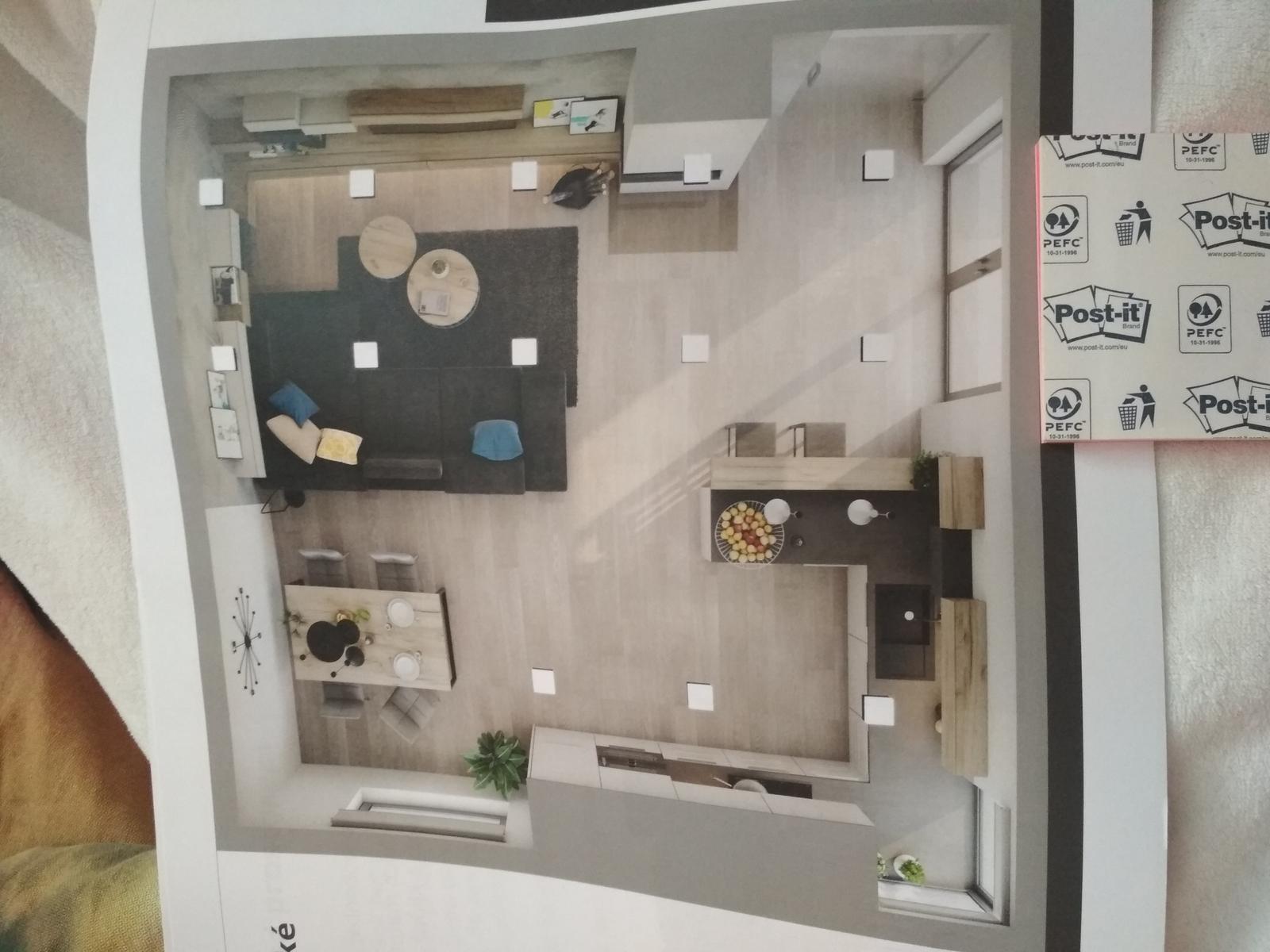 My máme obývák+kuchyň+jídelní kout... - Obrázek č. 1