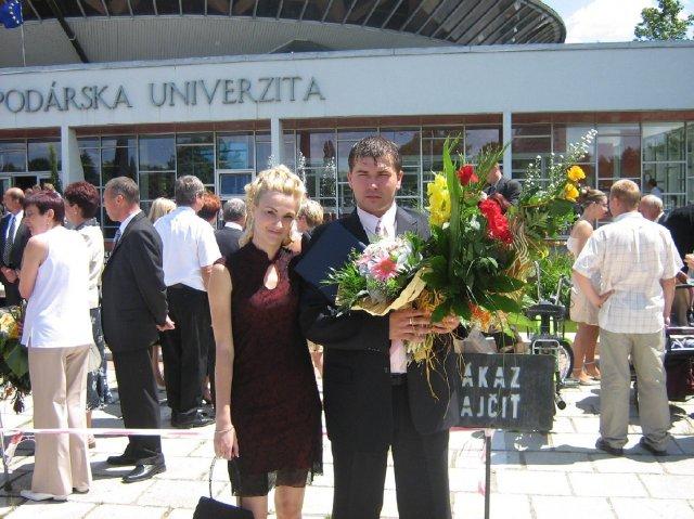 Marek a Martina - drahého promócie 7.7.2007