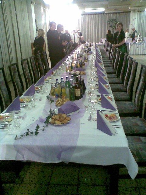 Detaily našej svadby - vyzdoba stolov