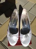 Svatební boty bílé 40, 40