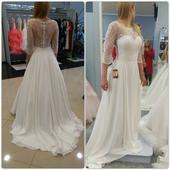 Prekrásne svadobné šaty + závoj, 35