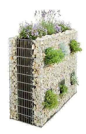 Gabionov plot zahrada for The garden design sk