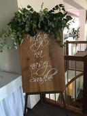 Tabuľa Vitajte na našej svadbe,