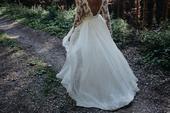 Krajkové svatební šaty v bohémském stylu, 36