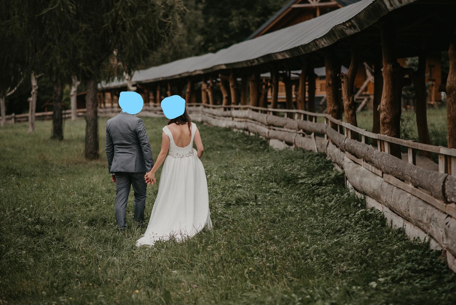 Svadobné šaty veľkosť 38-40 - Obrázok č. 1