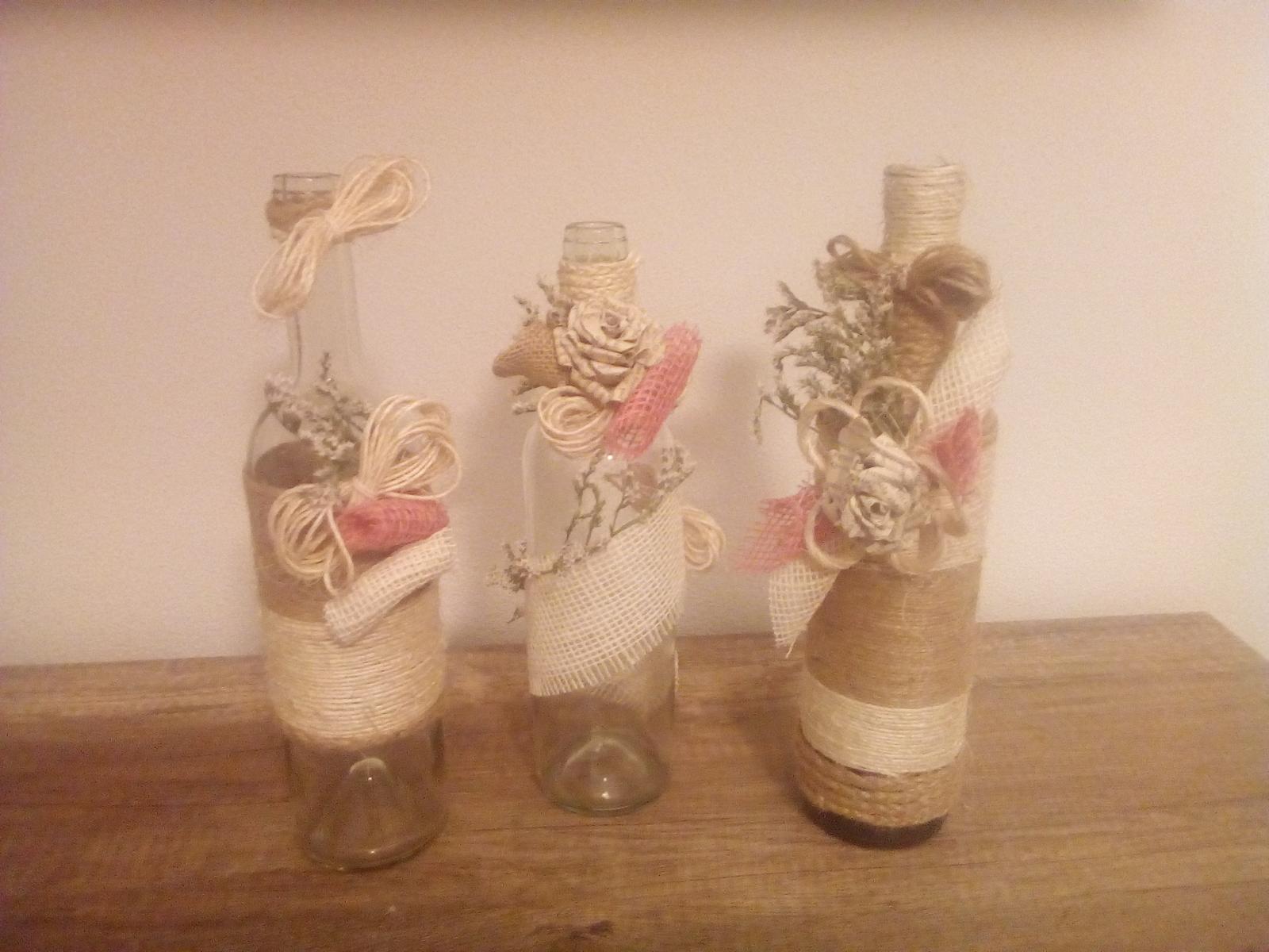Vázy a sklenice na svatební výzdobu - Obrázek č. 1