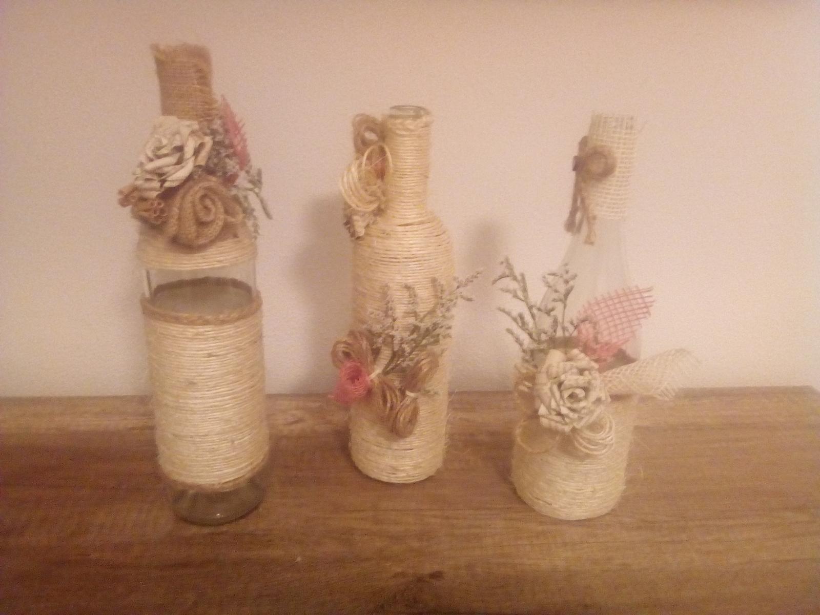 Vázy a sklenice na svatební výzdobu - Obrázek č. 2