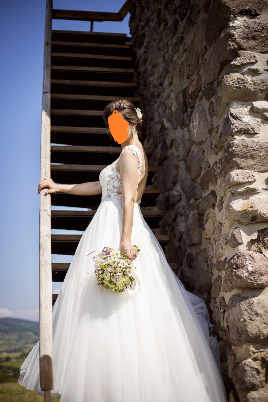 Svadobné šaty veľ. 36 - Obrázok č. 2