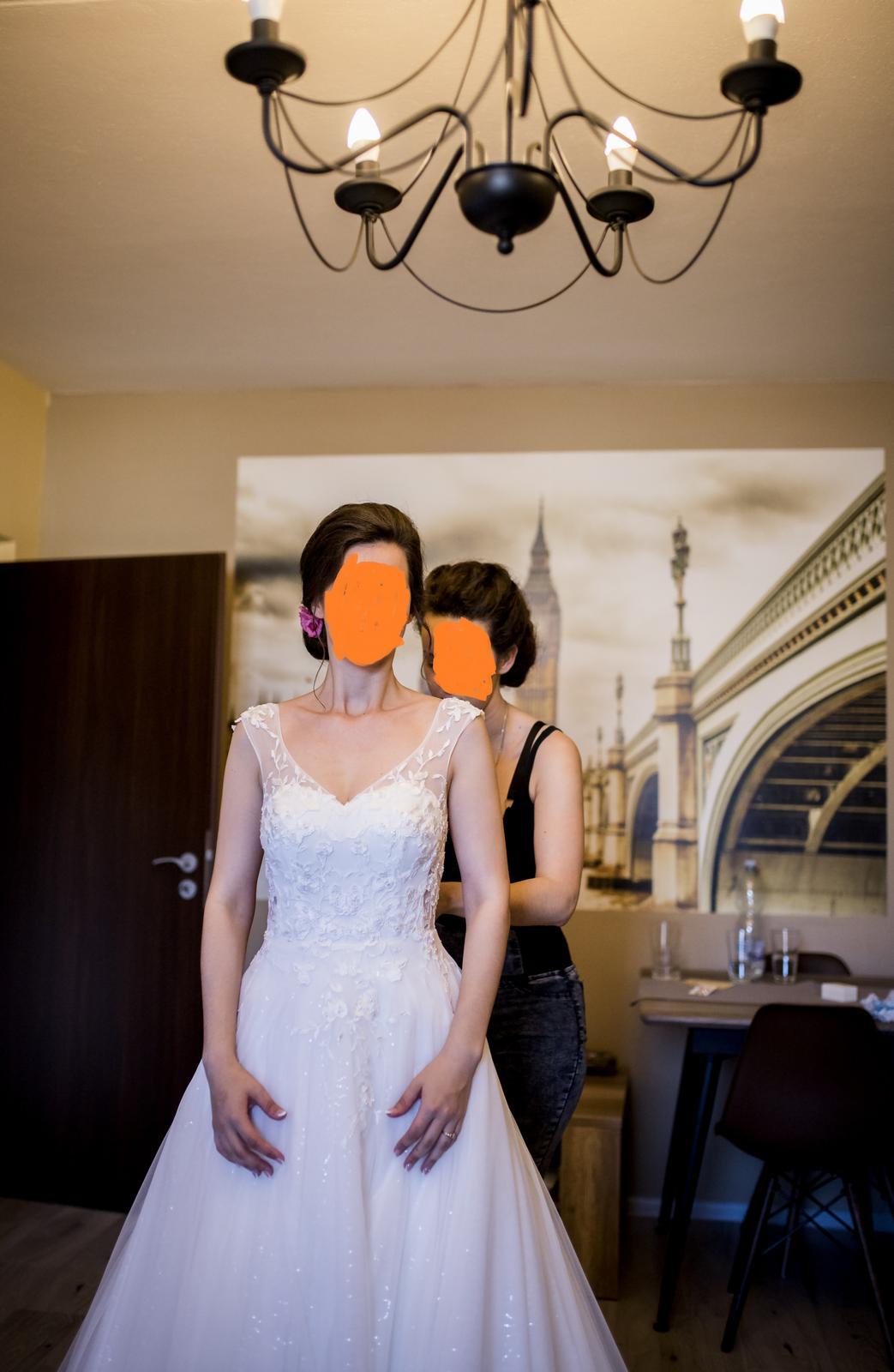 Svadobné šaty veľ. 36 - Obrázok č. 4