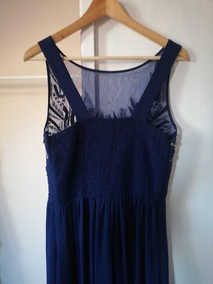 Tmavomodré dlhé šaty - Obrázok č. 3