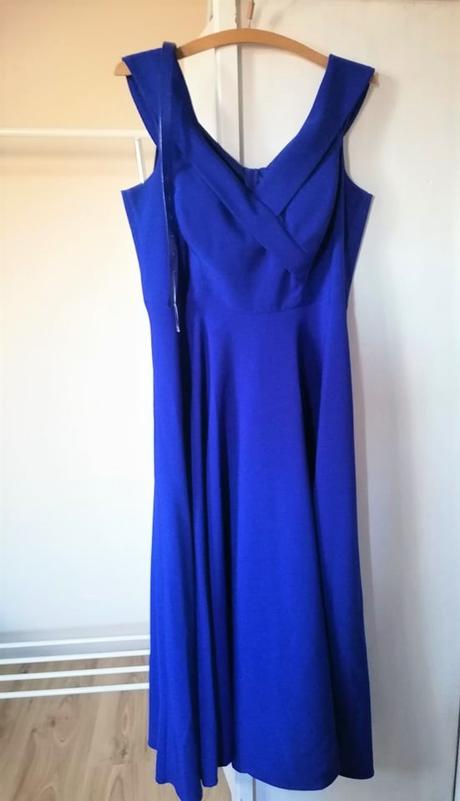 Kráľovsky modré dlhé šaty - Obrázok č. 1