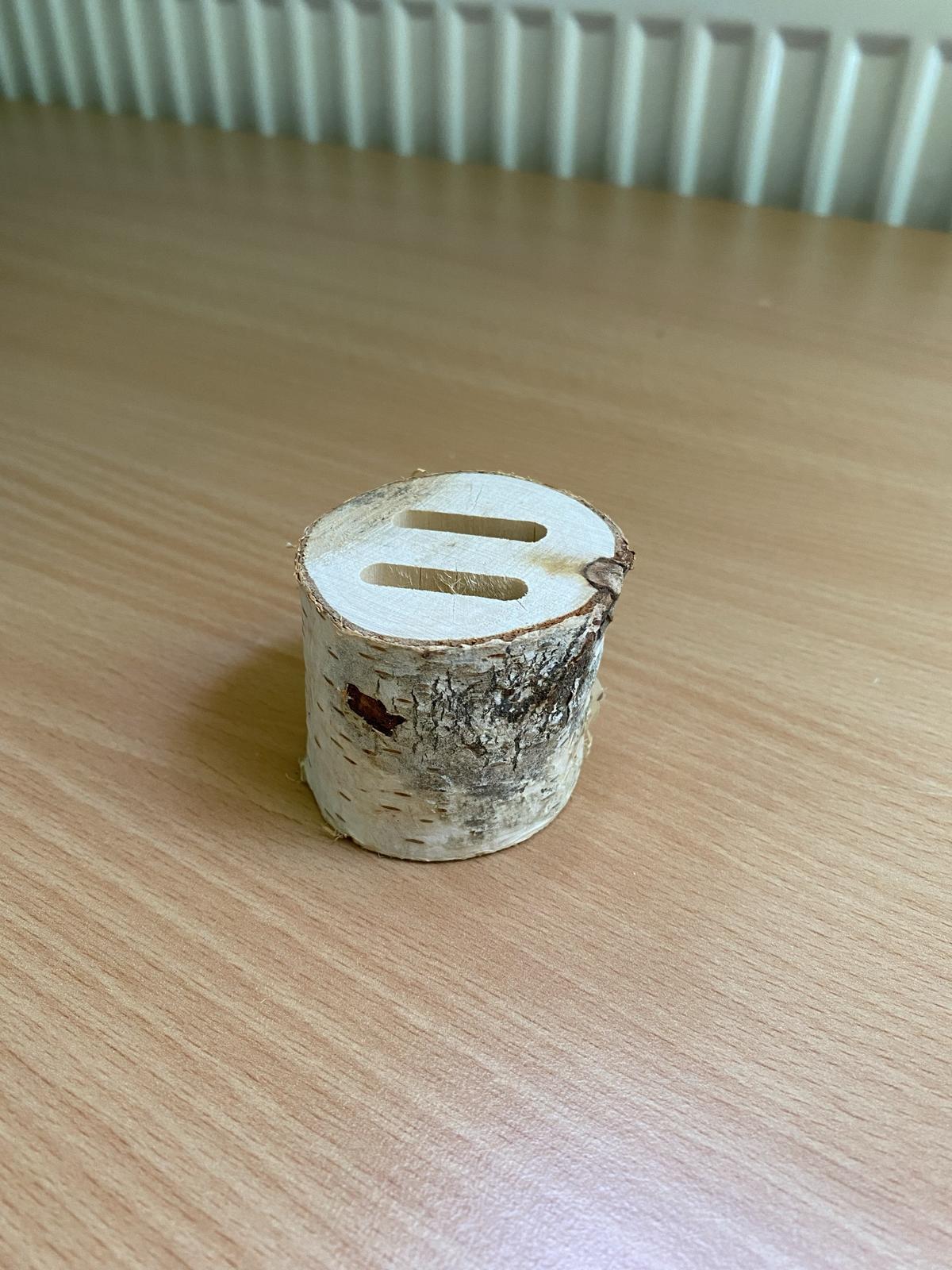 Březový špalíček na prstýnky - Obrázek č. 1
