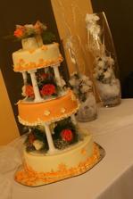 výborný svatební dort od cukrářky Janičky