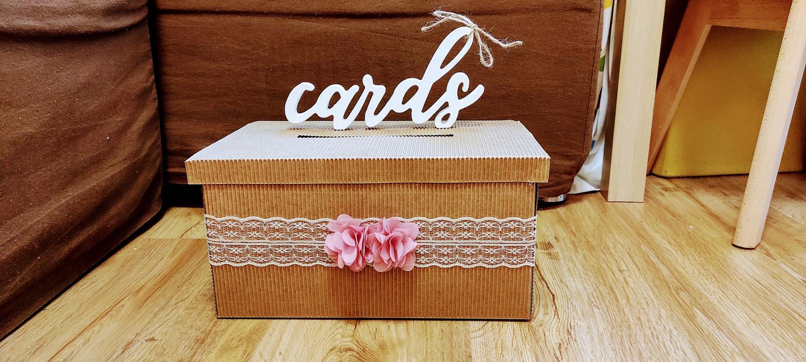 krabička na blahopřání - Obrázek č. 1