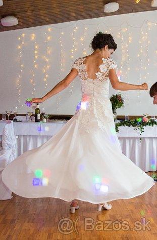 Svadobné šaty šité na mieru, veľ. 36 - 38 - Obrázok č. 1