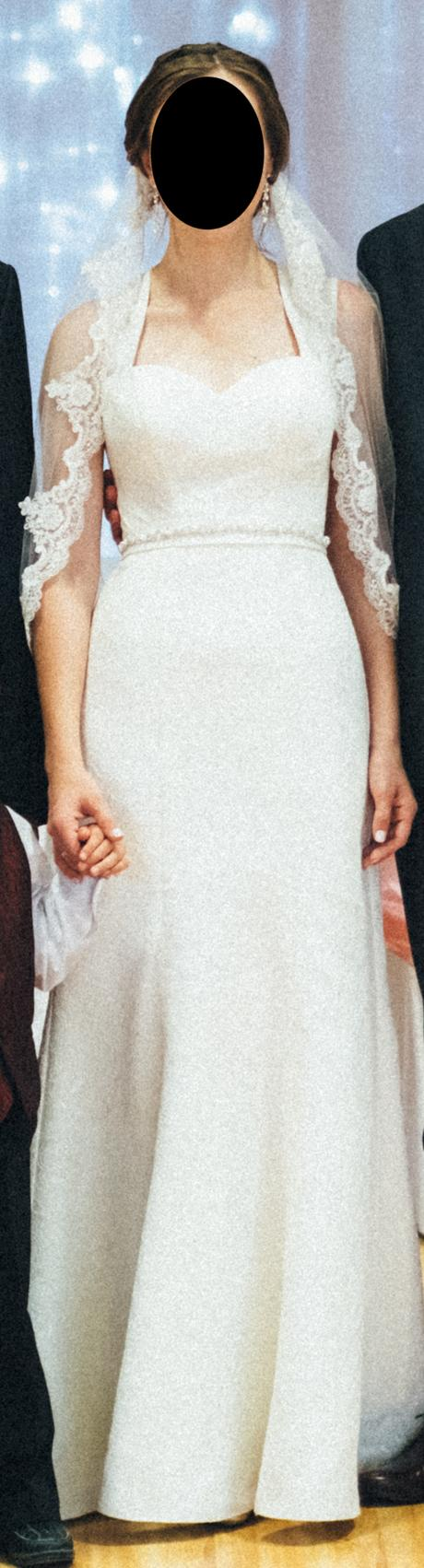 Elegantné svadobné šaty strihu morskej panny - Obrázok č. 1
