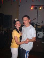 Májová zábava - král s královnou (budoucí ženich s budoucí nevěstou)