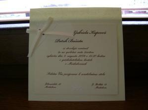 Naše krásne svadobne oznamenie