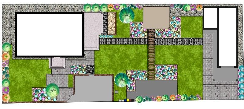 Okolie domu - môj návrh