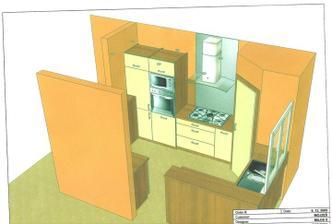 vizualizácia našej kuchyne