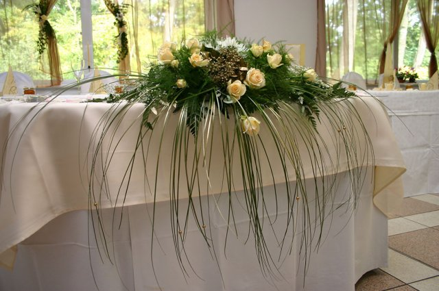 Ikebana na stol
