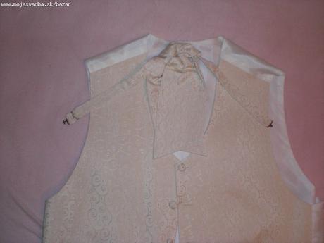 Pánska svadobná vesta s francúzskou kravatou - Obrázok č. 1