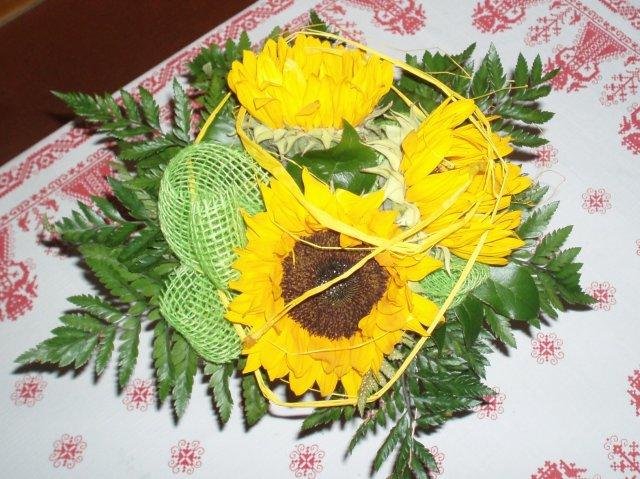 A tak je to v reálu - Moje zásnubní kytička,oblíbené slunečnice