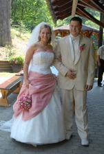 přivítání svatebních hostů
