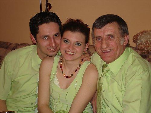 Zásnuby 23.3.2008 - moji dvaja chlapi