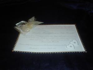 Naše svatební oznámení.