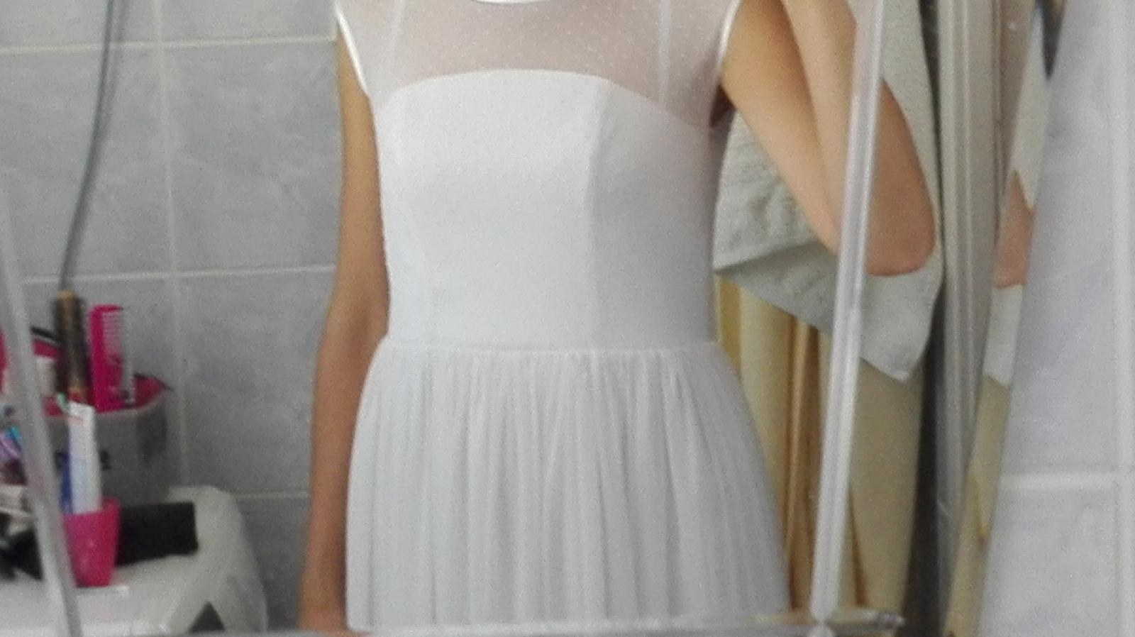 Krátke svadobné šaty 36/38 - Obrázok č. 3
