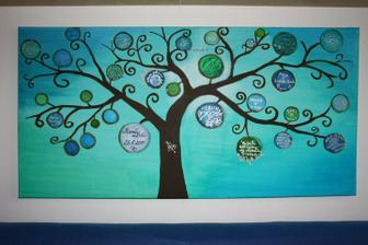"""Tak takhle vypadá teď náš """"svatební strom"""", děkujeme za krásné vzkazy!:-)"""