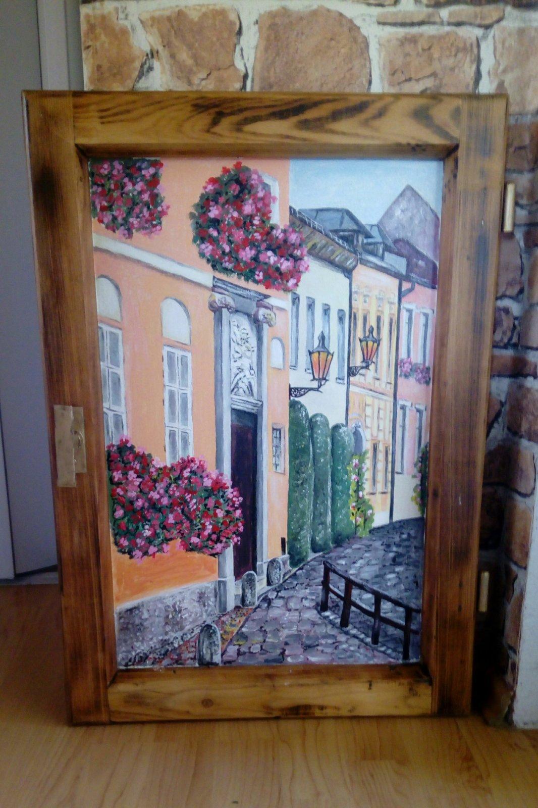 Obraz v starom okennom ráme Banská Štiavnica - Obrázok č. 1