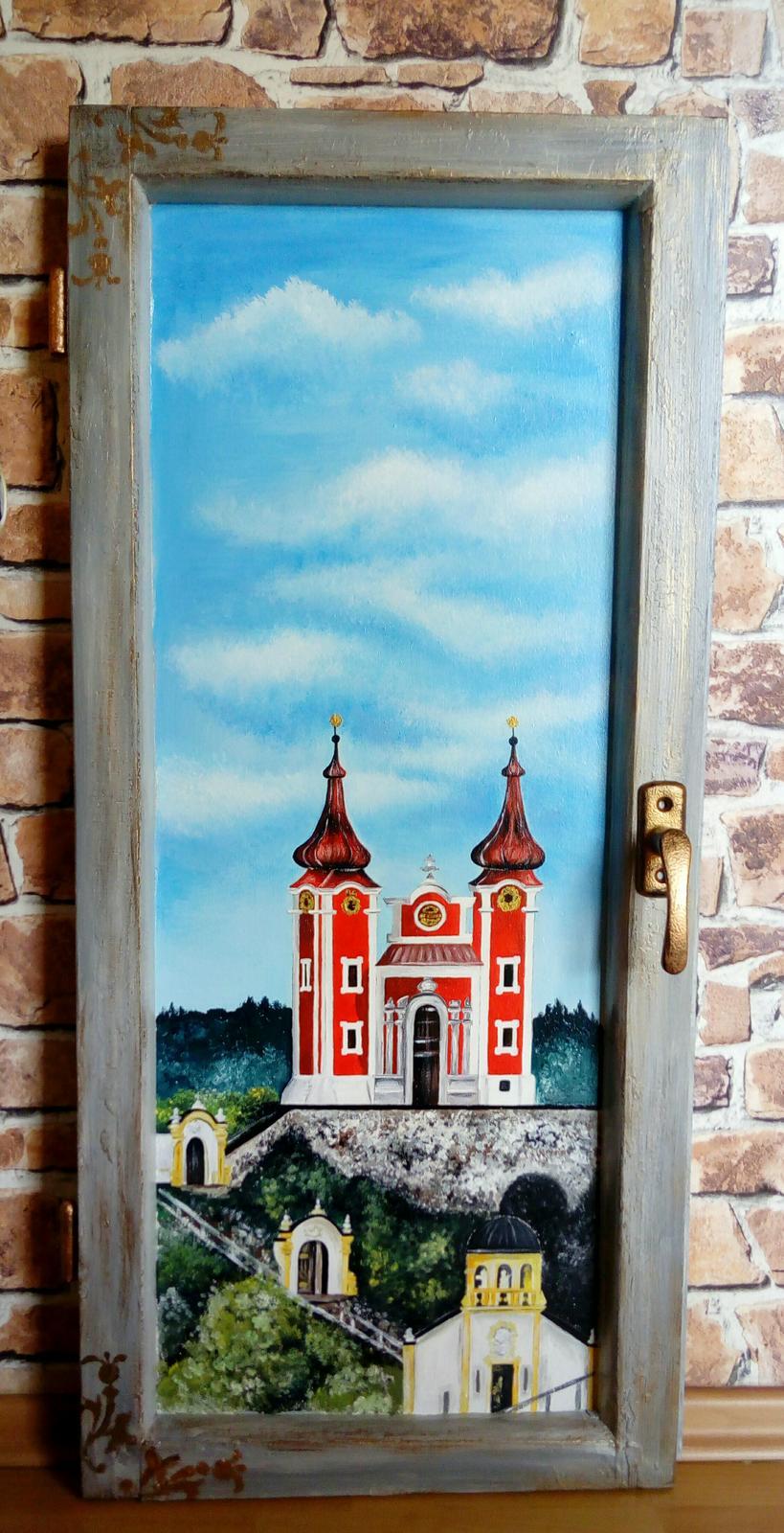Obraz v starom okne Banská Štiavnica Kalvária - Obrázok č. 1