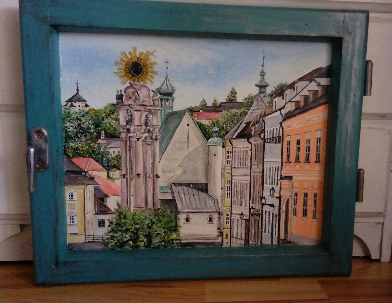 Obraz v starom okne Banská Štiavnica - Obrázok č. 1