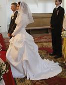 Snehovo biele svadobné šaty - možnosť aj požičania, 38
