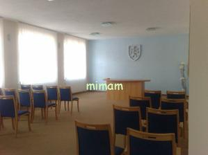 Tu sa to odohrá :-) Sobášna sieň Mestského úradu v Myjave