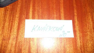 Moje poslední rezervačka na jméno Knápková:-)
