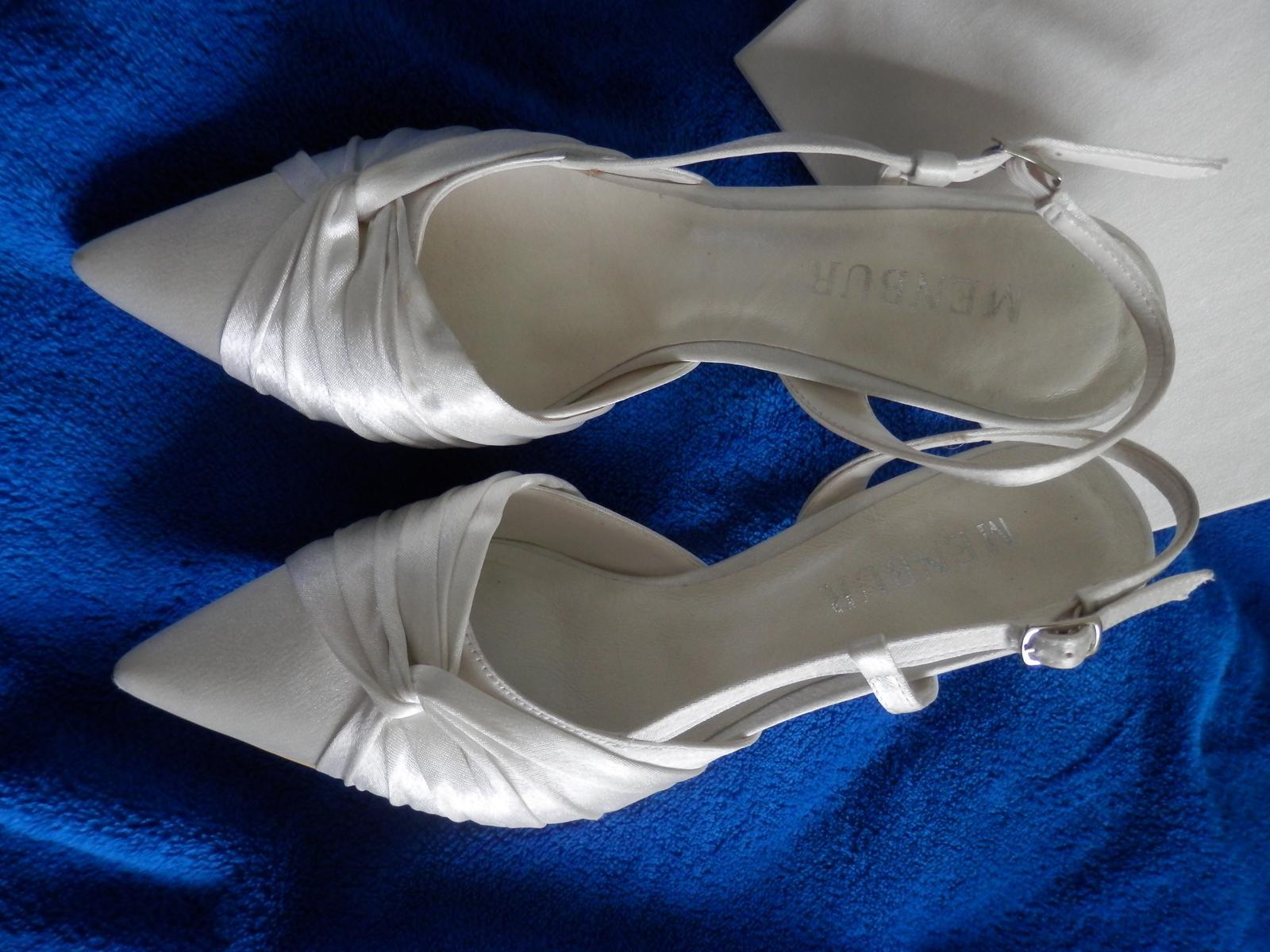 Svadobné topánky španielskej značky MENBUR  - Obrázok č. 1