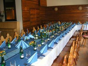 Místo svatební hostiny - penzion Bílá Holubice
