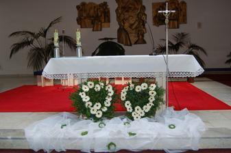 výzdoba kostola...