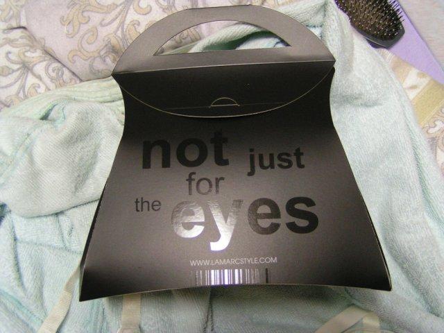 Nase pripravy na 9.9. - takze ako hovori uz aj napis na krabicke...not just for the eyes... :)