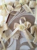 Vintage ručne šite svadobne pierka s čipkou a ruži,