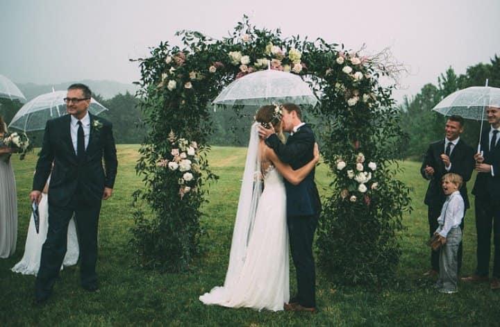 Svadobné inšpirácie - keby náhodou pršalo - zdroj: instagram