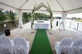 Svatební obřad na terase