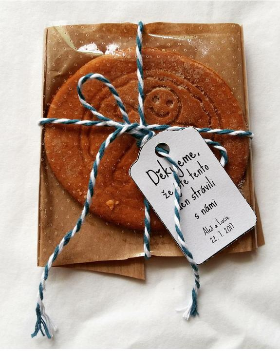 Sušenky jako dárečky pro hosty 😊 Moje výroba :-)