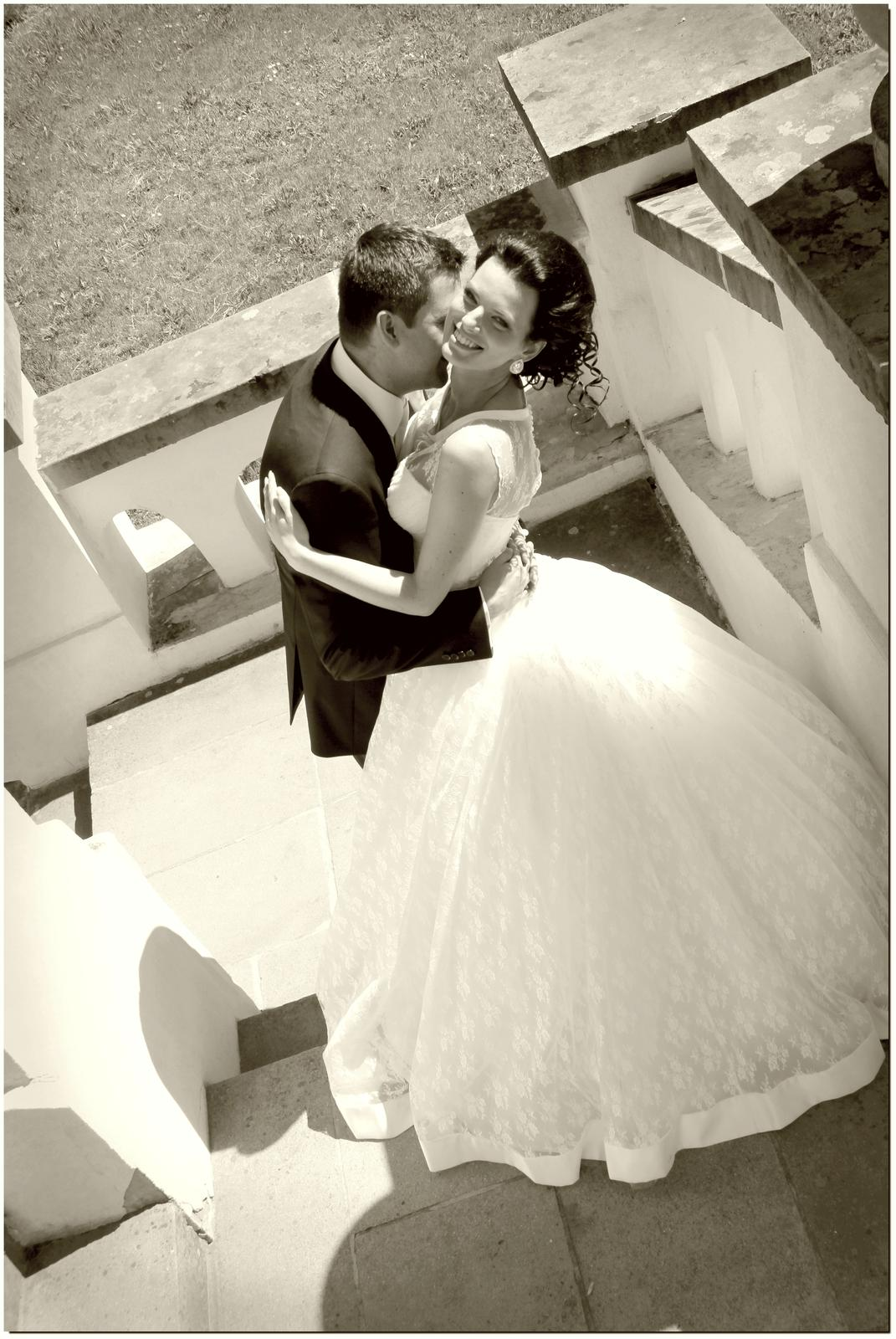 Nádherné svadobné šaty - ivory - 34/36 - Obrázok č. 3