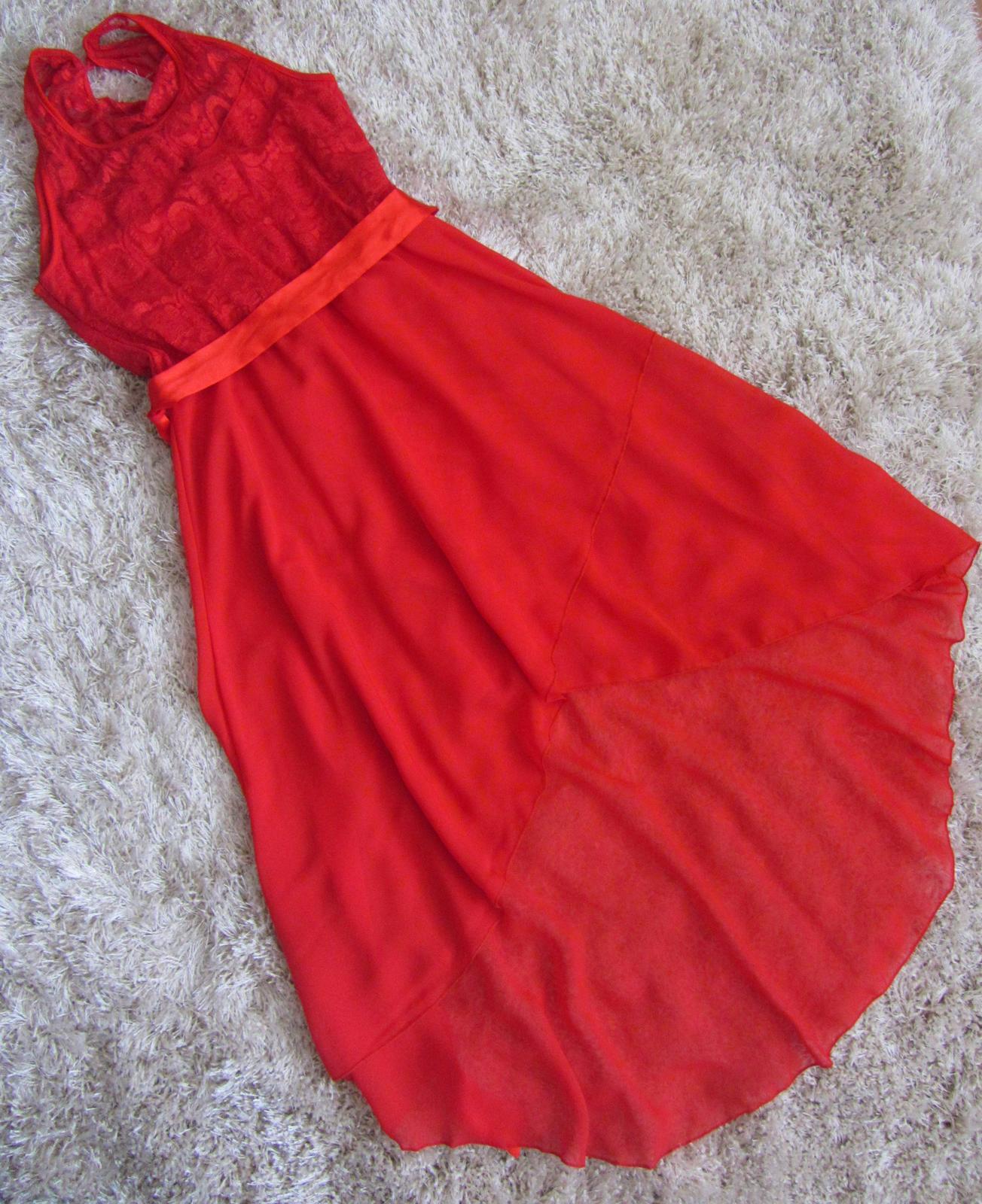 Červené spoločenské šaty - na redový tanec - Obrázok č. 2