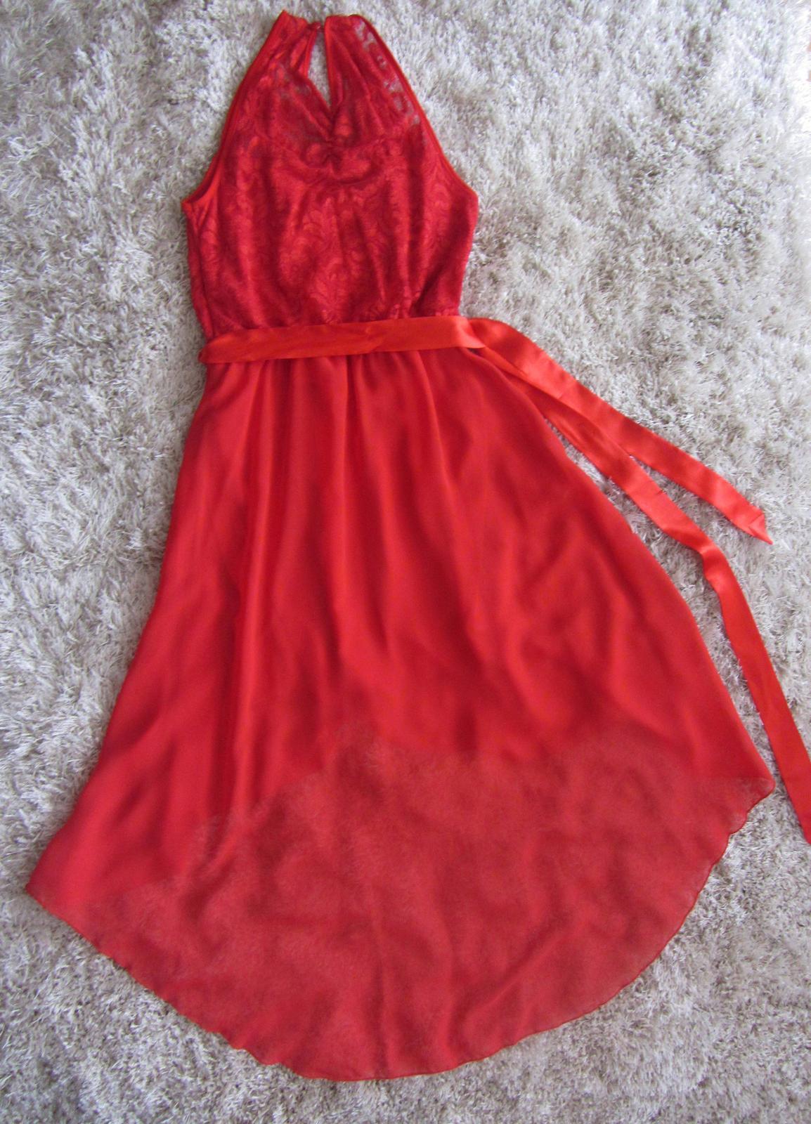 Červené spoločenské šaty - na redový tanec - Obrázok č. 4