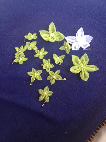 Kvety z organzy - Obrázok č. 1